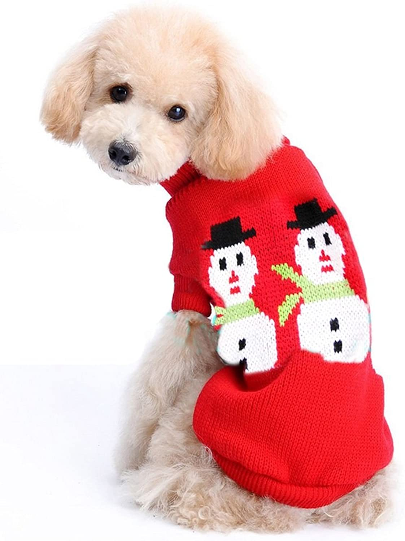 PetBoBo Pet Dog Cat Christmas Snowman Sweater Jerseys Clothing Gear Coats Apparel Red XL