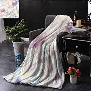 SSKJTC Marble Throw Blanket Double-Sided Printing for Bed Vintage Antique Ottoman Art Dorm Bed Baby Cot Traveling Picnic W70 xL84