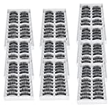 NEW 100 Pairs Long Volume Curling Black False Eyelashes Makeup Fake Eye Lash Set