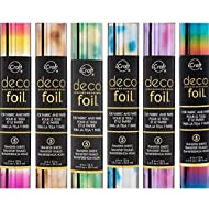 Therm O Web Deco Foil - Transfer Sheets - Rainbow and 5 Watercolors - 6 Piece Bundle of 2017 Ombres