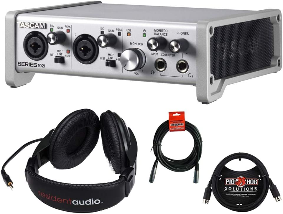 Tascam SERIES Recommendation 102i USB Audio MIDI Hea Stereo Ranking integrated 1st place Interface with R100