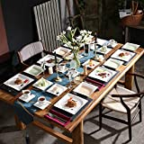 MALACASA, Serie Monica, Tafelservice 30-tlg Kombiservice Porzellan Geschirrset mit je 6 Kaffeetassen, 6 Unterteller, 6 Dessertteller, 6 Tiefteller und 6 Flachteller - 7