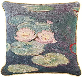 Signare Claude Monet Art Tapestry Double Sided Cushion Cover 18
