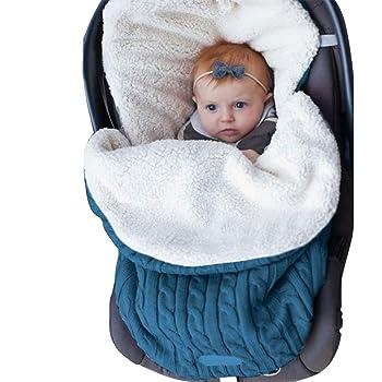 Kids Toddler Knit Soft Warm Fleece Infant Bunting Bag Sleeping Bag Sack Footmuff Stroller Unisex Wrap for 0-12 Month Boys Girls Uheng Newborn Baby Swaddle Blanket Wrap
