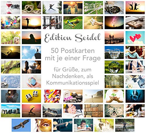 Edition Seidel Set 50 Premium Postkarten Motivationskarten Kommunikationstraining Konversation-Spiel Coaching Tools Karten Landschaften Natur Gefühlskarten Selbst-Achtsamkeit Sprüche