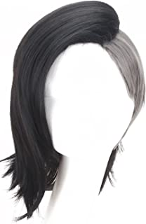 Simpleyourstyle Anime Cosplay Wigs Tokyo Ghouls Long Wigs for Women Short Wigs for Men Popular Shaved Gray and Black Wigs (Short Wigs for Men)