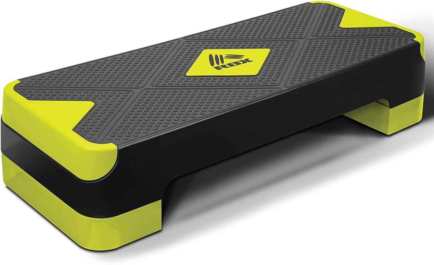 RBX Adjustable Aerobic Albuquerque Mall Step Platform and with Superior 2 Non-Slip Levels