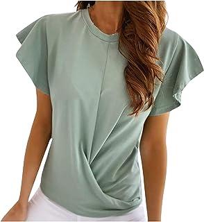 امرأة بلايز الرسومات تي شيرت المرأة س الرقبة الأسود سول سولديل الأزياء ضئيلة قصيرة الأكمام تي شيرت t- shirty (Color : C, S...