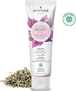 ATTITUDE Super Leaves, Hypoallergenic Soothing Body Cream, White Tea Leaves, 8 Fluid Ounce