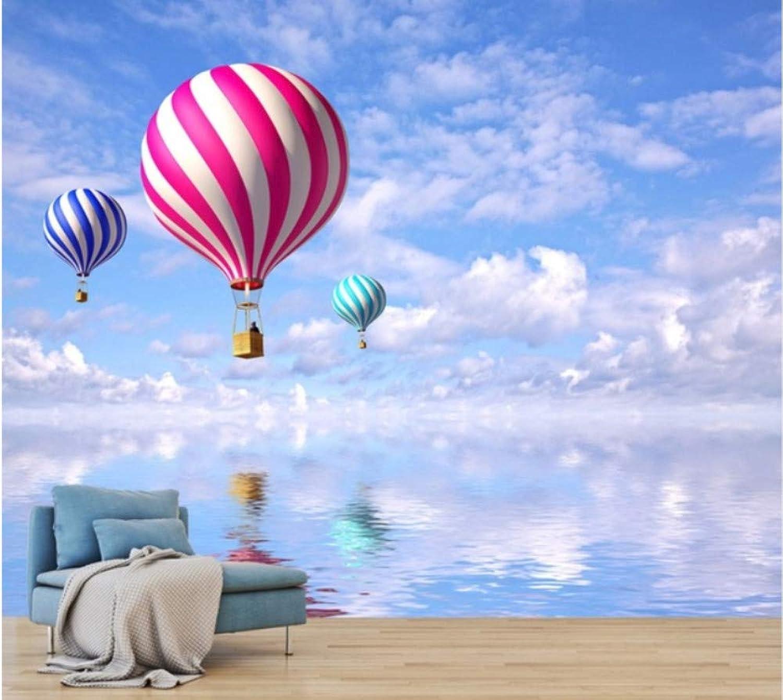 edición limitada Mbwlkj Personalizado 3D Nordic Nordic Nordic Globo Aerostático Aire Acondicionado Sofá Fondo Parojo Fondo Del Cielo Azul Hotel Sala De Estar Dormitorio Wallpaper-200cmx140cm  connotación de lujo discreta