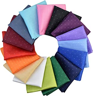 obmwang 16 Pcs Pocket Squares for Men, Assorted Colors Speckle Dot Pattern Pocket Square Handkerchief for Wedding Party