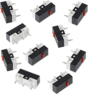 Rtengtunn Interruptor de botón de 10 Piezas Interruptor de ratón Microinterruptor de 3 Pines para ratón Razer Logitech G700