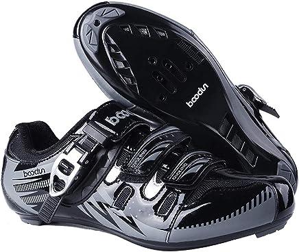 UB-BOODUN Zapatillas para Bicicleta de montaña Elite Road Racing, con autobloqueo, para Hombre