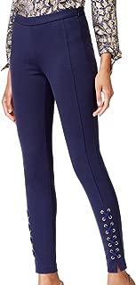 Michael Michael Kors Womens Lace-Up Skinny Skinny Pants Navy 8