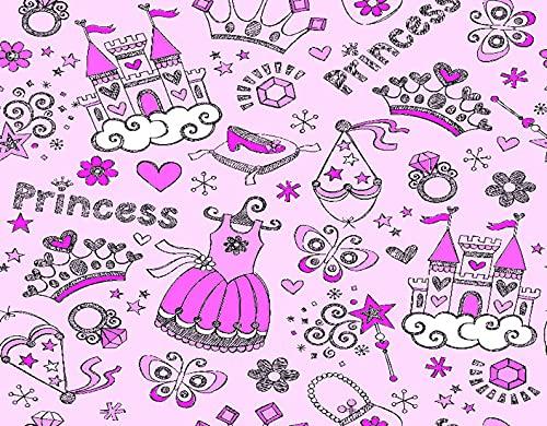 DIY Pintar por Números para Niños Y Principiante Y Adultos,Doodle incompleto del cuaderno de la corona de la princesa Tiara del cuento de,Regalo Pintura al óleo Conjunto de Kit Lienzo Decor,20' x 16'