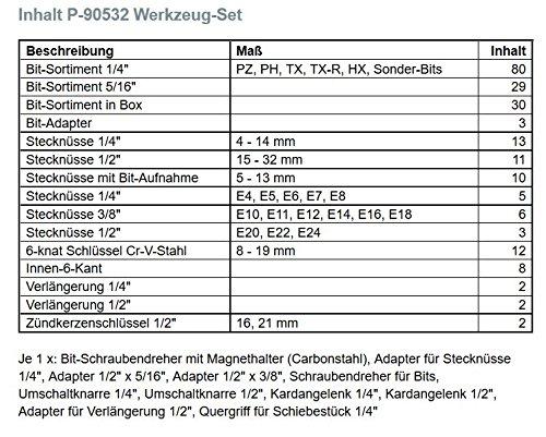 Makita Werkzeug GmbH P-90532 Werkzeug-Set 227-teilig 8 x 160 mm - 2
