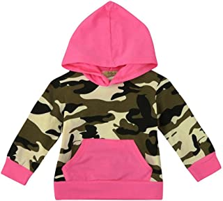 Iuhan Camouflage Toddler Infant Baby Boy Girl Hoodie Tops Family Outfit Clothes