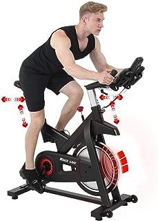 KOUZ LIVE フィットネスバイク スピンバイク 静音 エアロバイク 16kgホイール 永久磁石 準業務級 家庭用 マグネット式 無段階負荷調整 トレーニングマシン エクササイズマシン