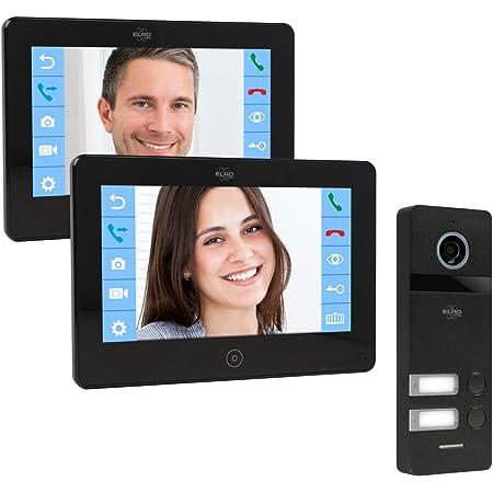 Model: 618MC12 APP 4-Draht Technik 2-Familien WiFi Video T/ürsprechanlage mit 2 Farbdisplay Grau 16 Klingelt/öne Kamera mit Nachtsicht