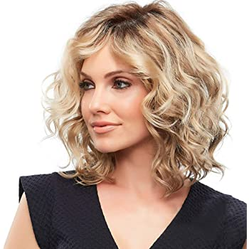 fexgaoo Women Ombre Natural Looking Long Short Curly