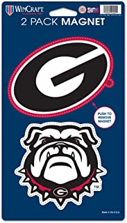 WinCraft NCAA University of Georgia WCR29038014 Magnets (2 Pack), 5 x 9