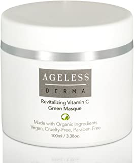 Ageless Derma Anti Aging Face Mask by Dr. Mostamand. A Natural Moisturizing Vitamin C Facial Mask for a Plump and Softer Skin