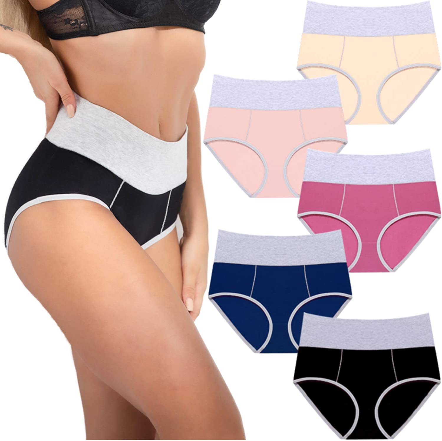 Sinophant Women High Waisted Cotton Underwear Max 57% OFF Briefs Max 77% OFF Ladies and