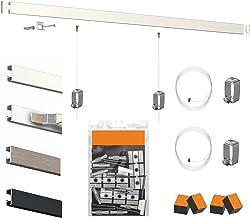 Artiteq Click rail, hoogwaardige ophanging, 50 meter, geanodiseerd aluminium