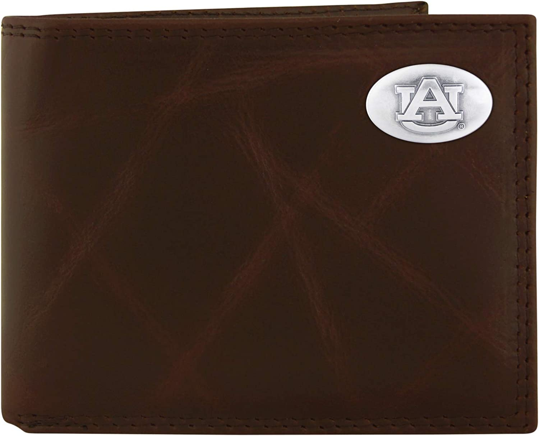 Brown NCAA Kansas Jayhawks Zep-Pro Leather Concho Key Fob