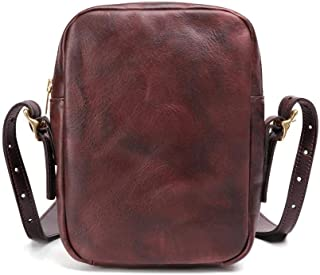 Small Sling Bag Coffee Genuine Leather Single Shoulder Bags Retro Messenger Bags for Men (Color : Coffee, Size : 1size)