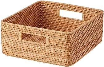 Muji Stackable Square Rattan Basket, Medium