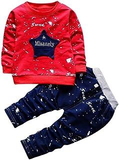 Mbbys Tuta Neonato 0-24 Mesi Autunno Invernale Completo Bimbo Bimba Maglietta con Cappuccio E Tasca Manica Lungo A Righe Pantaloni Tinta Unita 2 Pezzi Set Leggera Caldo Ragazzo Ragazza
