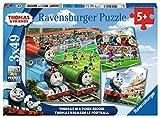 Ravensburger Italy–Thomas and Friends Reloj Soccer Puzzle, 3x 49piezas, 08037 , color/modelo surtido