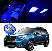 SCITOO LED Interior Lights 11pcs Blue Package Kit Accessories Replacement for 1998-2009 Subaru Forester