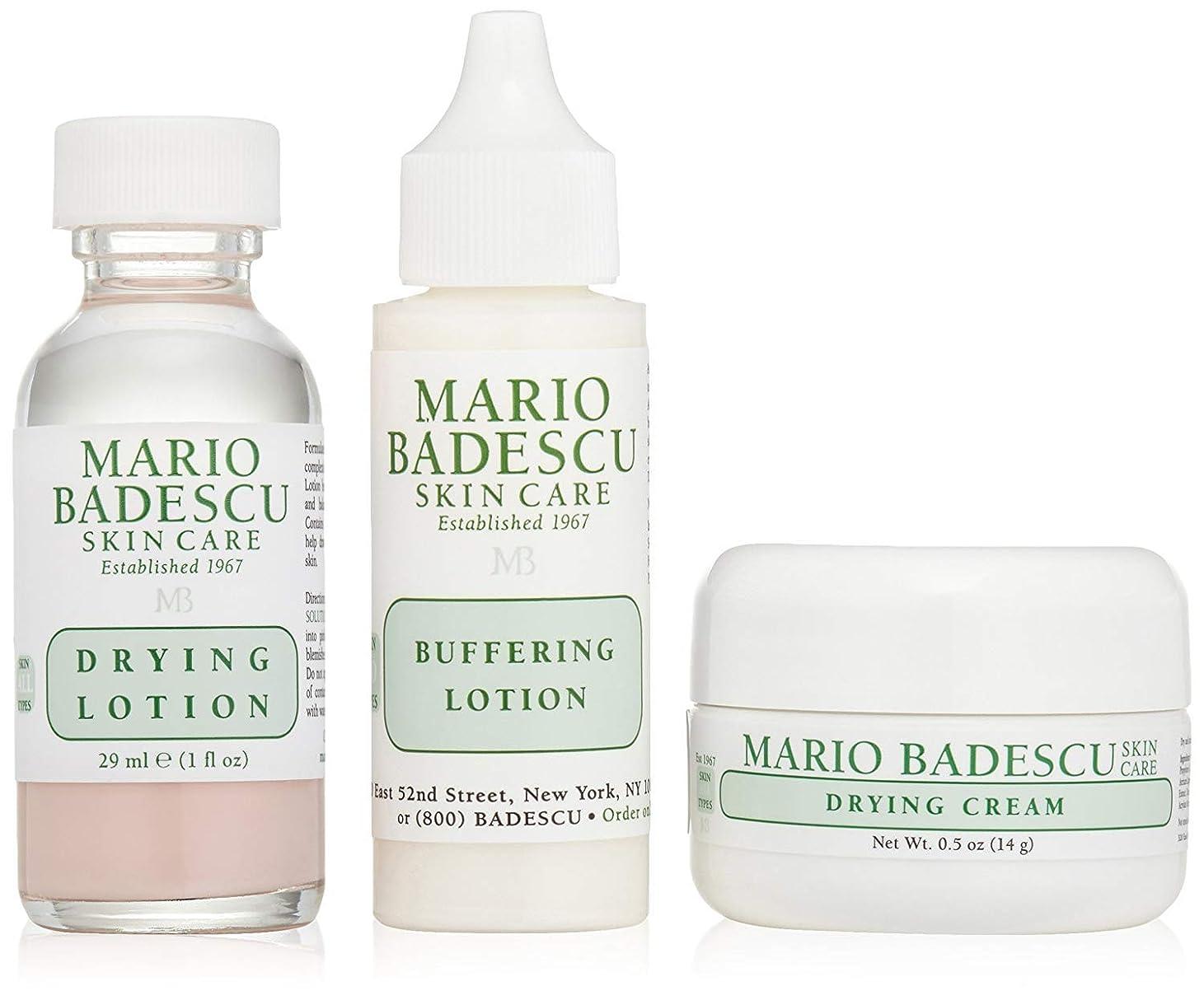 クマノミ笑い一時停止[(マリオ バデスク)] Mario Badescu Acne Repair Kit: Drying Lotion 29ml + Drying Cream 14g + Buffering Lotion 29ml 3pcs] (並行輸入品)