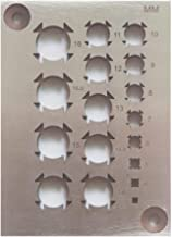 Creker A2 Tool Steel Dowel Plate Dowel Cutting (Metric System 17 Holes)
