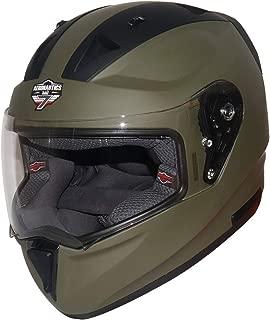 Steelbird SA-1 7Wings Twotone Aeronautics Full Face Helmet (580MM Medium, Matt M.Green/Black with Plain Visor)