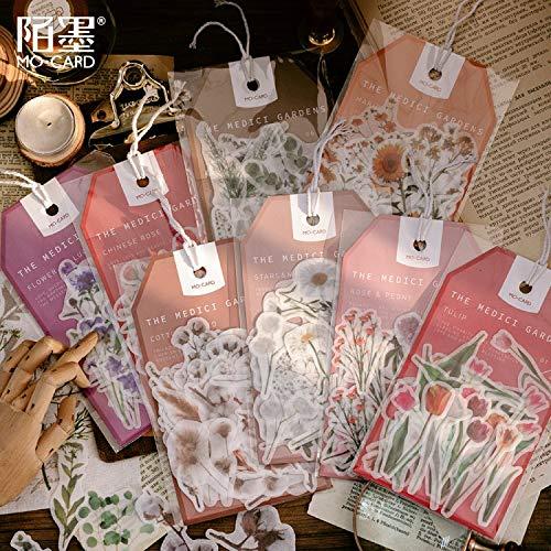 BLOUR Aufkleber Tasche Pflanze Eukalyptus Hand Konto DIY Material Aufkleber Medici Garden Serie Ins Retro 8 Modelle