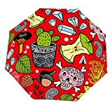 Paraguas Plegable Cute Nature Elements Paraguas Abrir Cerrar Paraguas a Prueba de Viento Ligero Compacto Paraguas al Aire Libre Sol y Lluvia
