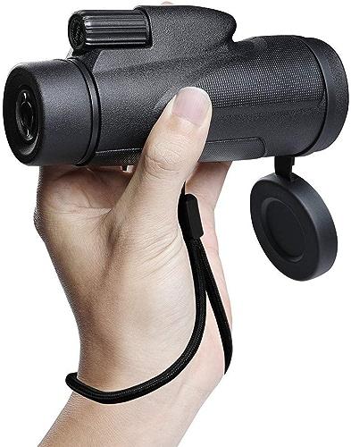 Wgw Télescope portatif, télescope de téléphone Portable, Vision Nocturne de Puissance élevée de 12X50 HD chatoyante extérieure