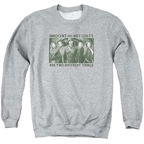 Green Arrow - - Pull Hommes Non Coupable, Large, Athletic Heather