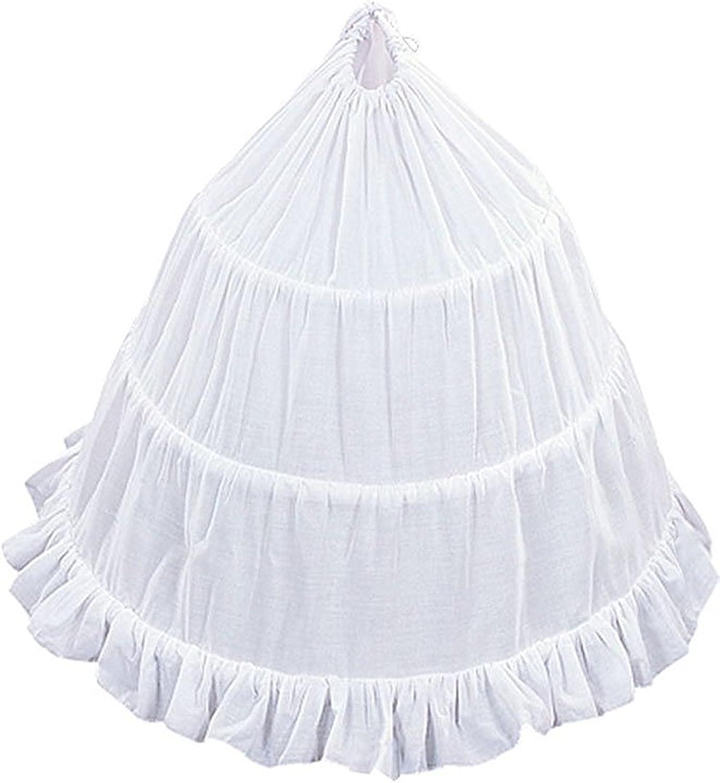Bonnie Girls 3-Hoop Flower Girls Crinoline Petticoat Skirt Tulle Bridal Underskirt for Wedding Party Communion