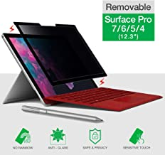 Surface Pro Privacy Screen Protector, Compatible with Microsoft Surface Pro 7/6/5/4, Removable Privacy Screen Filter, Anti Spy and Anti Glare, 1 Pack
