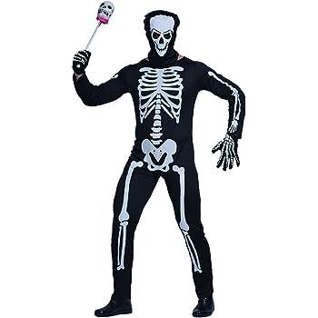 EraSpooky Disfraz de Esqueleto de los Hombres Vestido Cosplay ...