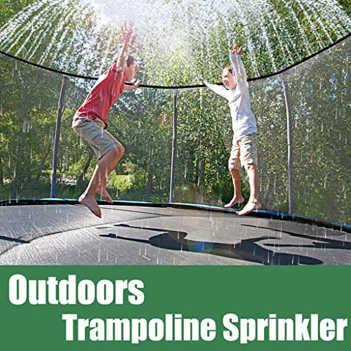 LUCKME Trampoline Sprinkler, Water Park Sprinkler Hose Pipe Fun Summer Pools Sprinkler Toys Accessories Fun Summer Games For Kids Outside Garden (12m/39.4ft)
