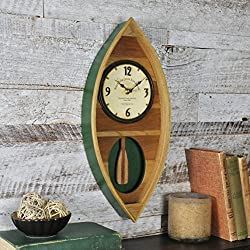 FirsTime & Co. Wood Canoe Pendulum Clock