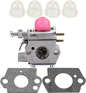 Kizut 753-06190 Carburetor for Troy Bilt TB22EC TB21EC TB32EC TB42BC TB80EC MTD 753-06190 WT-973 Bolens BL110 BL160 Yard Man Craftsman Trimmer