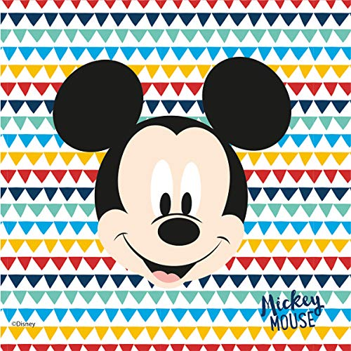 Procos - Serviette 33 cm 3 plis Mikey Mouse Awesome, multicolore, 5PR89905