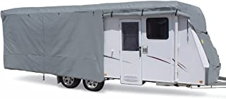 SUMMATES Travel Trailer Cover RV Cover,Color Gray,Beige,160g SSFS 4 Layer Polypropylene Fabric,fits Most Sizes (Gray, 20-22 Feet)
