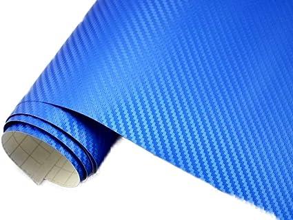 5 M2 Auto Folie 3d Carbon Folie Blau Metallic Blasenfrei 50 X 150 Cm Blasenfrei Car Wrapping Klebefolie Auto